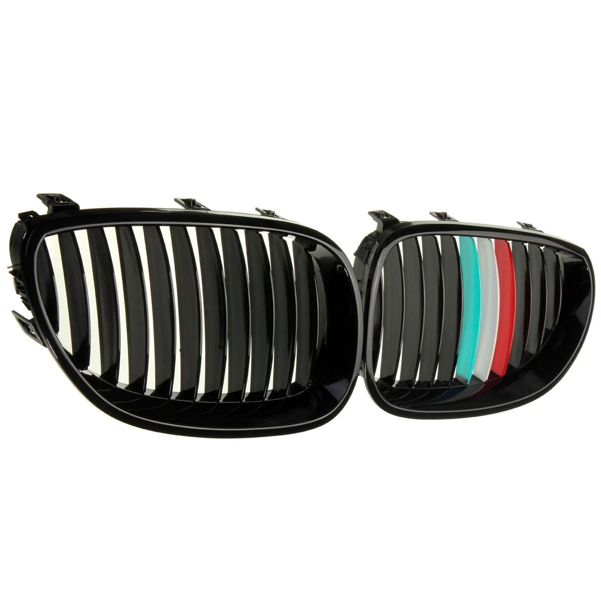 Передние решетки и накладки на радиаторы For BMW E60 1 + + BMW E60 E61 5 2003/2009 для bmw 5 series e61 задние воздуха ездить подвеска шок опоры воздушной подушки продажа новых 37126765602