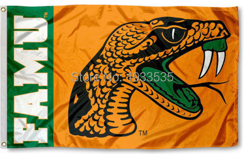 Florida A&M University Rattlers Flag FAMU Large Outdoor Banner Flag 3' x 5' NFL MLB Fan Flag Banner brass metal holes Flag(China (Mainland))