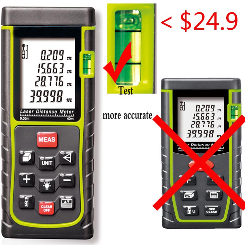 Handheld Rangefinder, Laser Distance Meter, Digital Range Finder Bubble Level measure Tape Area/Volume M/in/Ft Tester tools - frank hu's store
