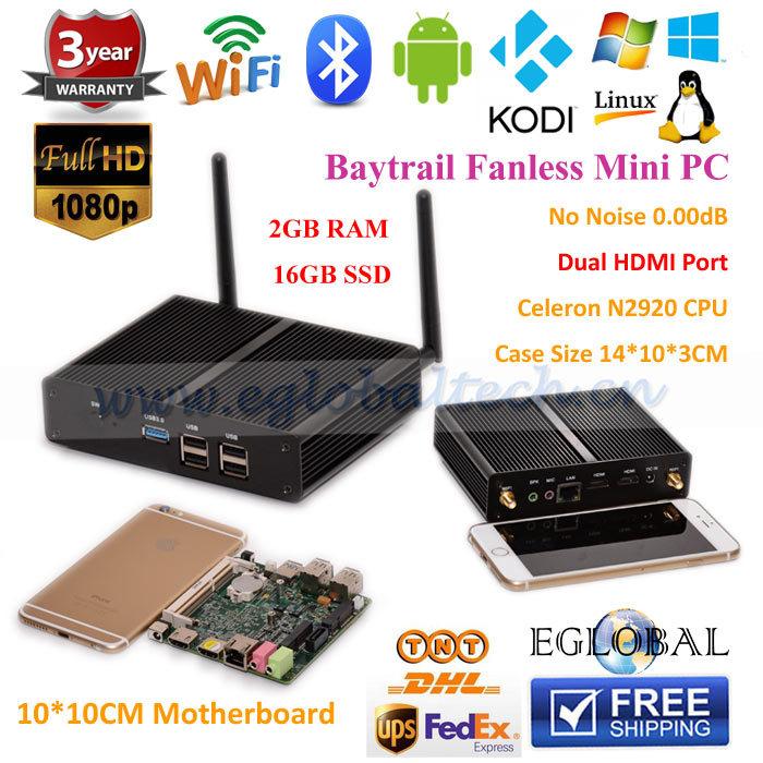 Compact Computer Smallest Size As Cellphone 2G RAM 16G SSD Laptop Hard Disk Celeron N2920 Mini PC Windows Dual HDMI Gigabit Lan(China (Mainland))