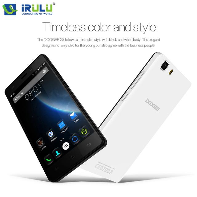 Original Doogee X5 Doogee X5 Pro 5.0 inch HD Android 5.1 MTK6580 Quad Core Smartphone 3G Dual SIM 1G RAM 8G ROM 8.0MP+5.0MP Hot