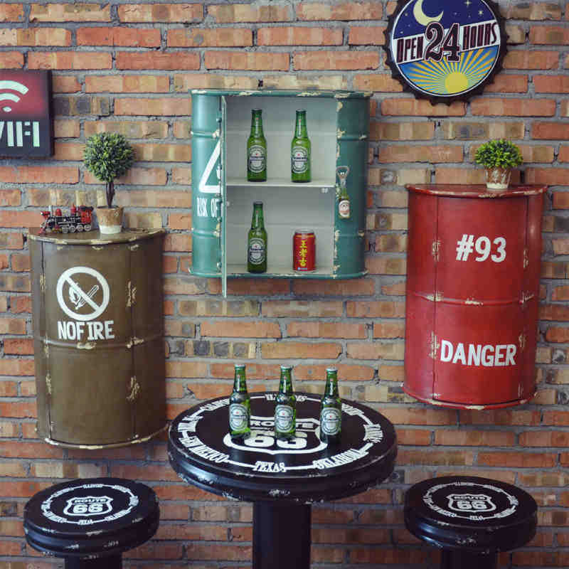 Popular industrial vintage furniture buy cheap industrial for Decoration murale industrielle