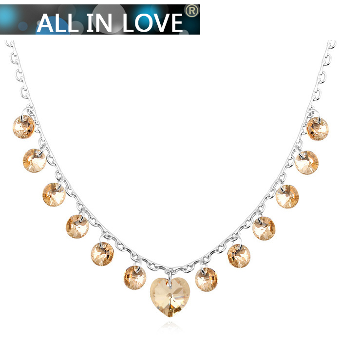 2014 Original design necklaces pendants Austria SWA crystals wedding Necklace for women fashion custom Jewelry gift accessories(China (Mainland))