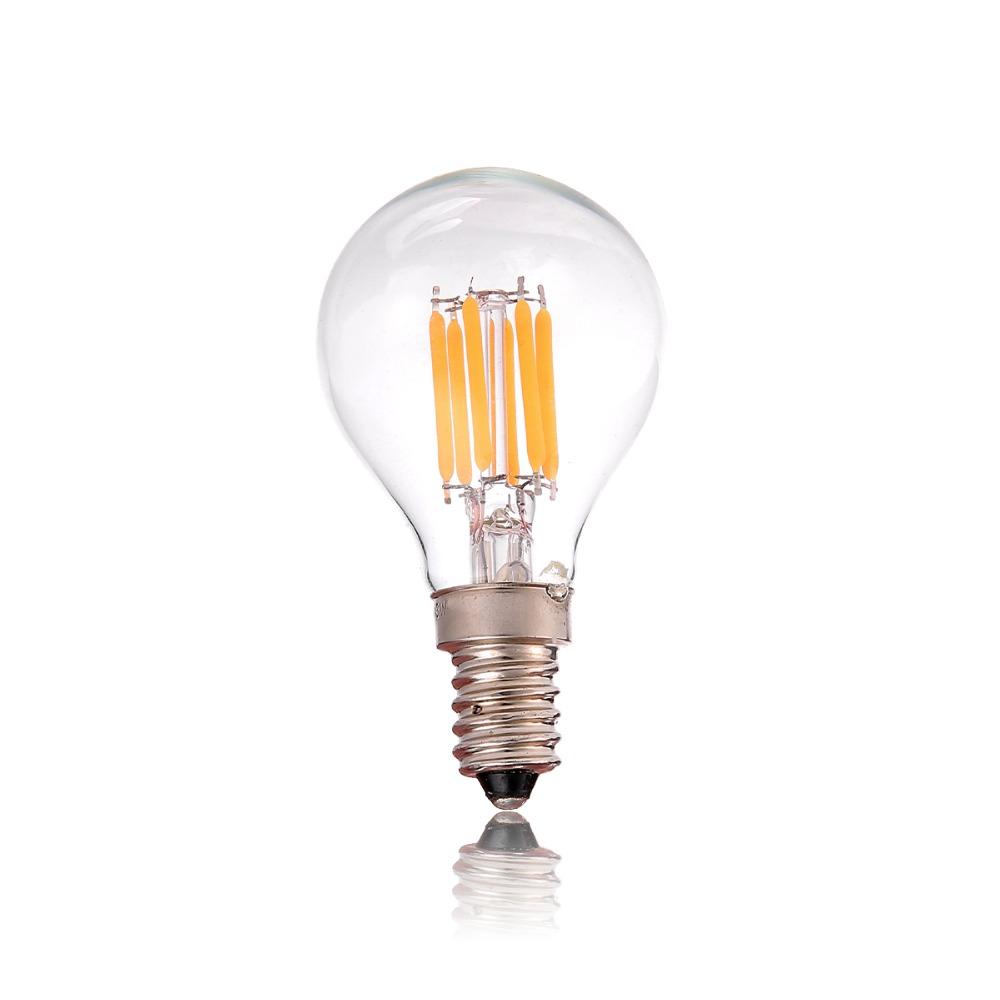 E12 E14,4W 6chip,Vintage LED Filament Bulb,Edison G40 Style,Warm White,110V 220V,Retro Decorative Lamp(China (Mainland))