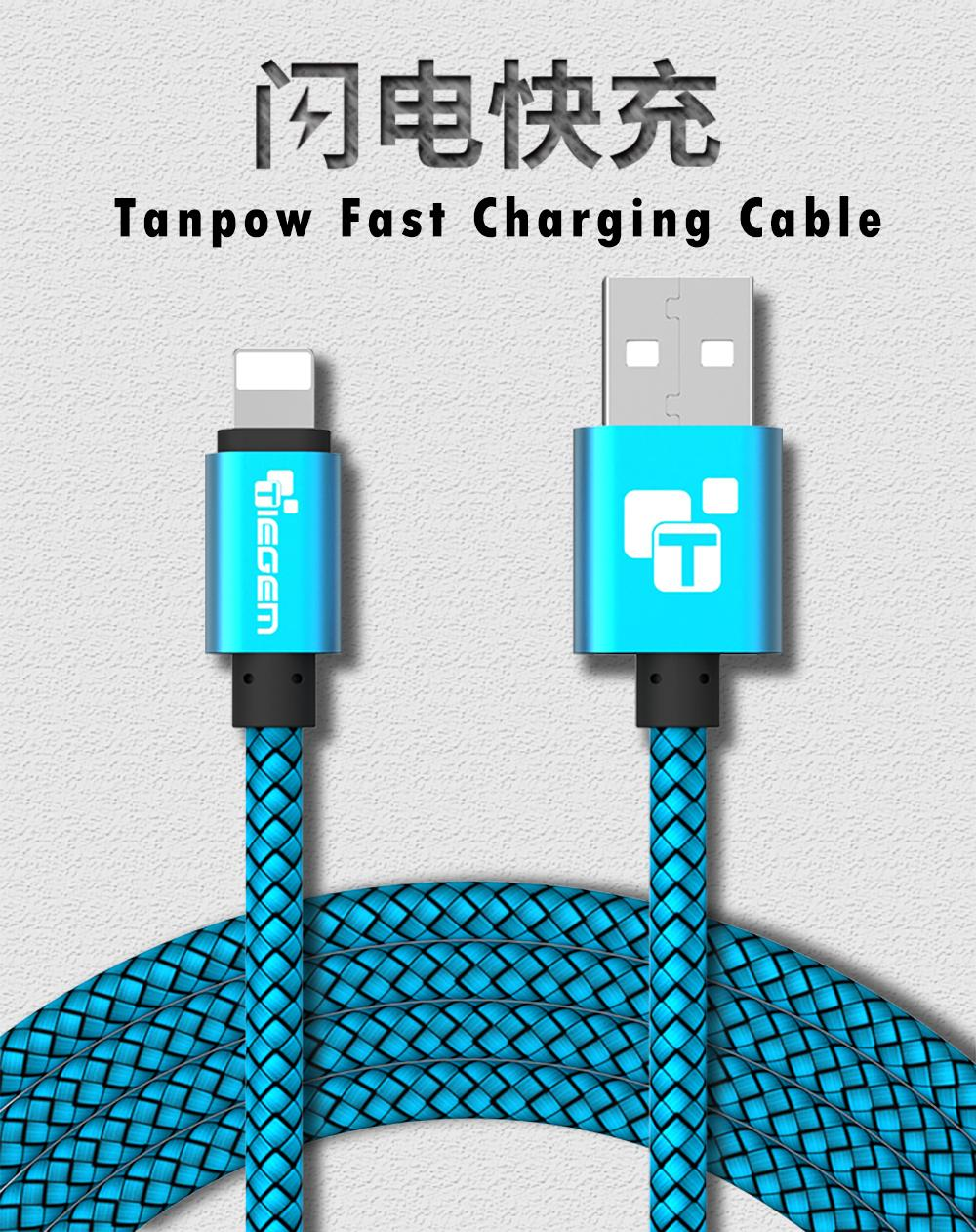 Tiegem USB Charger Cable for iPhone 5 5s 6 6s ipad SE for ipad air mini Wire 1 02 m Car Fast Charging cord Mobile Phone Cables