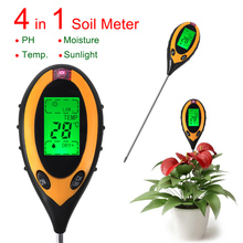 2015 New Arrival 4 in 1 Soil PH Meter, Soil Moisture Meter, Sunlight/Moisture/PH/temperature meter with Backlight
