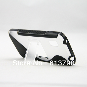 Free Shipping Premium Quality TPU Stand Protective Case Cover Skin for LG Nexus 4 E960 Google Phone