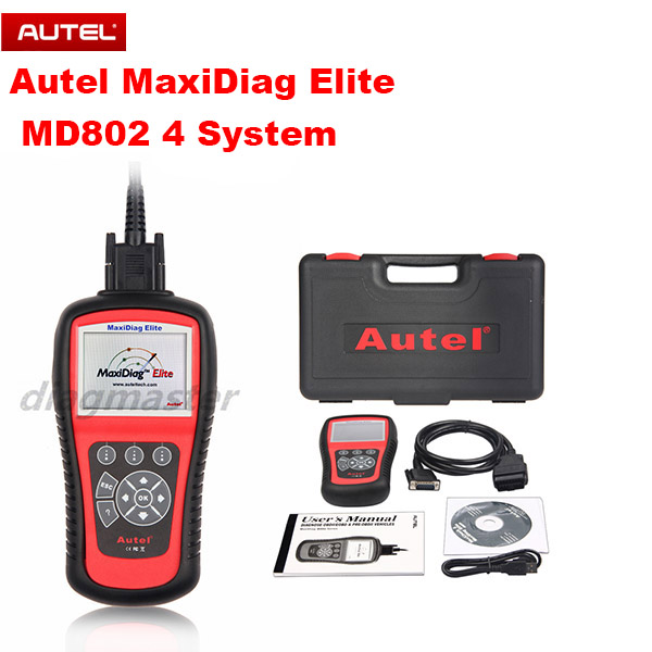 Original Autel MaxiDiag Elite MD802 4 System with Data Stream(including MD701,MD702,MD703 and MD704) DHL Free(China (Mainland))