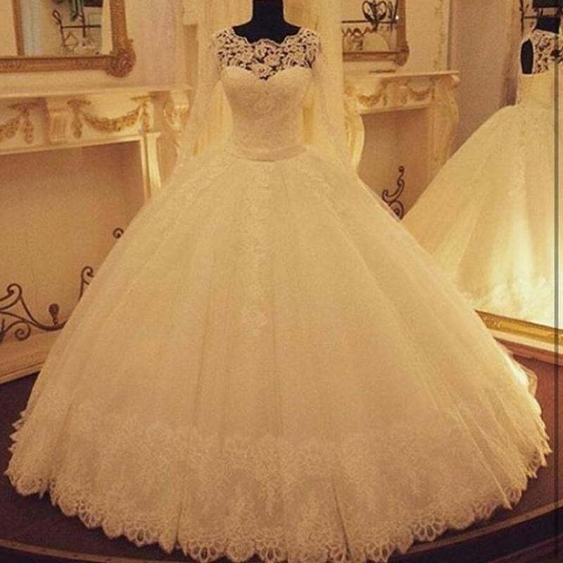 Buy vestido de noiva estilo princesa long for Boutique de location de robe de mariage dubai