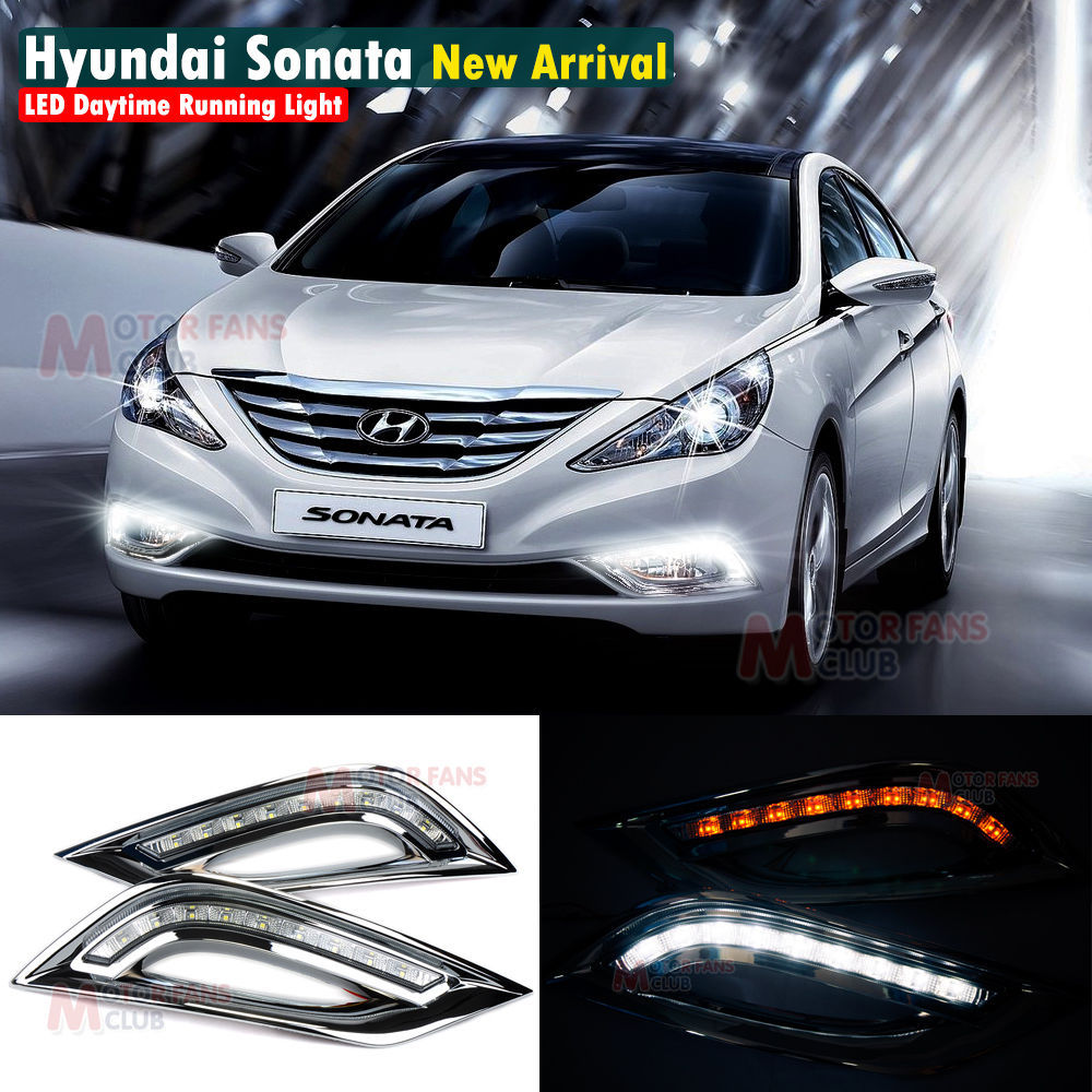 Hyundai Sonata Gls 2014: LED Daytime Running Light For Hyundai Sonata I45 Car Fog