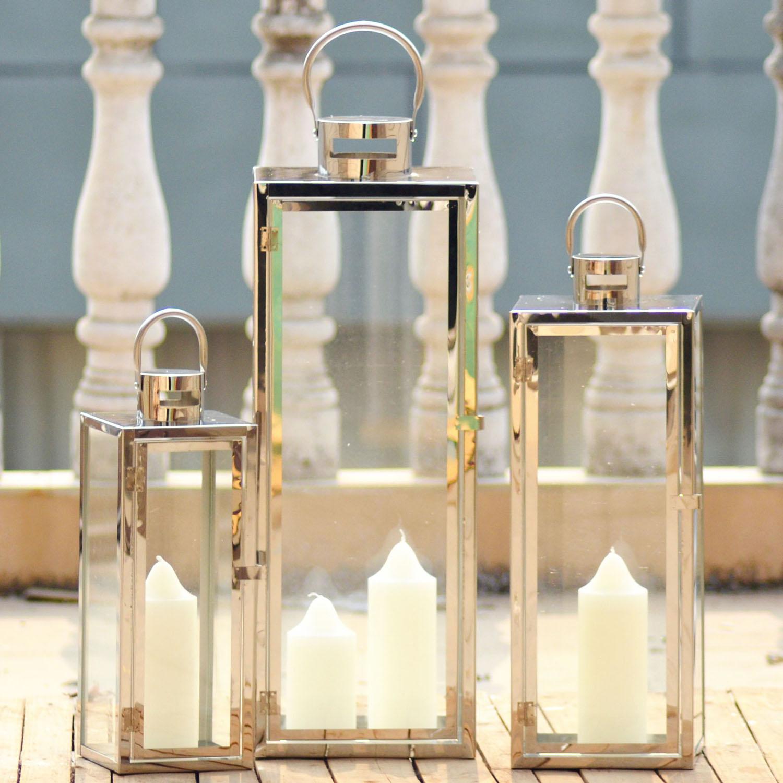 Acier bougie lanterne achetez des lots petit prix acier - Lanterne da interno ...