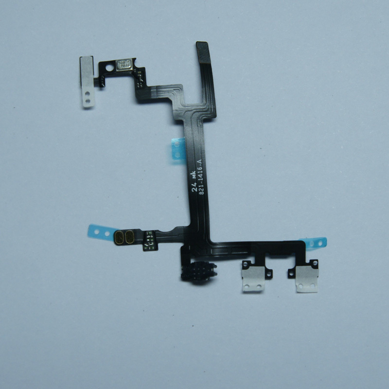Power on/off button Volume control iPhone 5 5g original felx cable [ 1] - omni market store