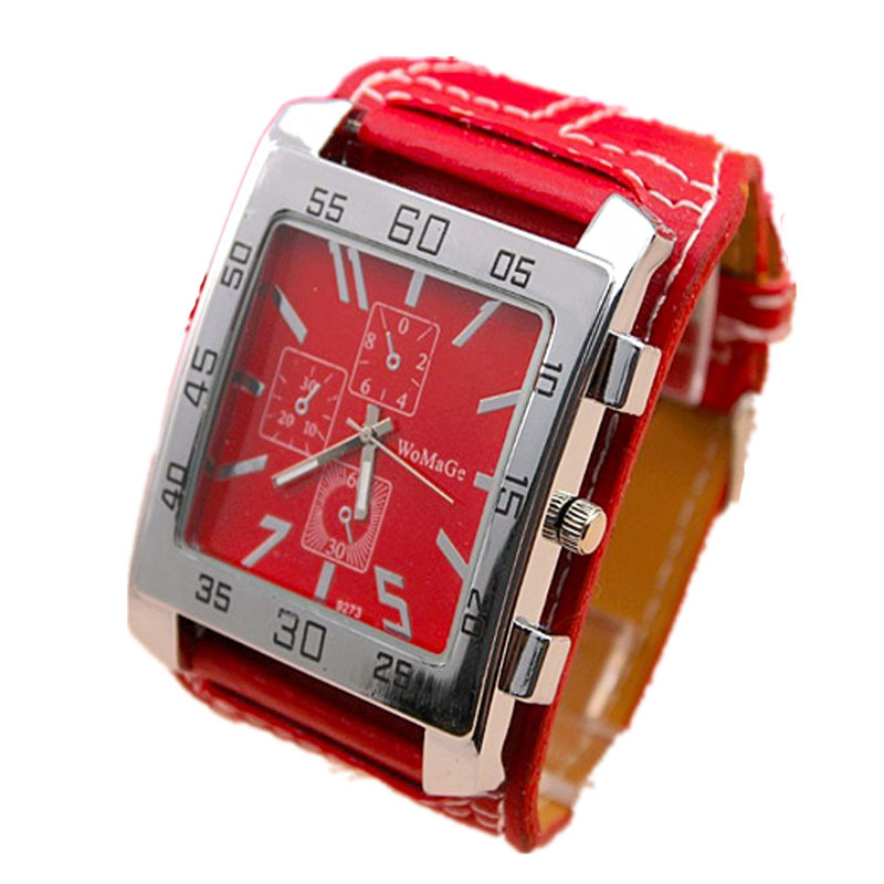 freeshipping 100pcs/lot  new arrival hot sale square head design womage Promotions watch,PU leather band,precise quartz movement<br>