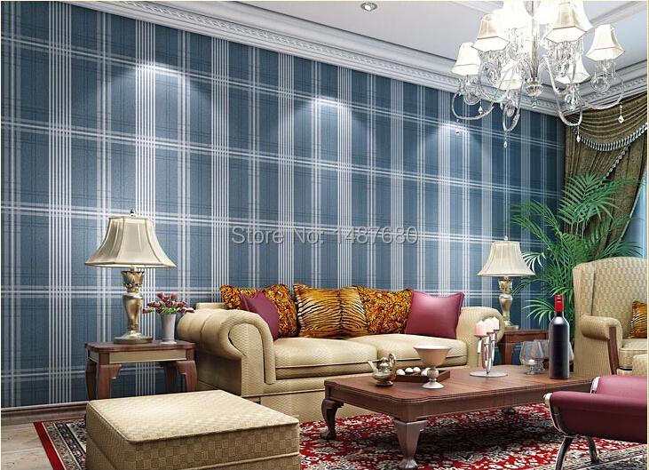 achetez en gros cossais plaid papier peint en ligne des grossistes cossais plaid papier. Black Bedroom Furniture Sets. Home Design Ideas