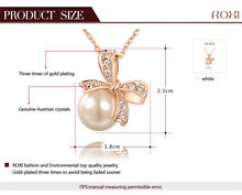 Roxi Fashion Women s Jewelry High Quality Hand Made Rose Gold Plated Austrian Crystals Pearl Chain