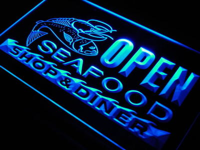 j650-b OPEN Seafood Restaurant Diner LED Neon Light SignWholeselling Dropshipper(China (Mainland))