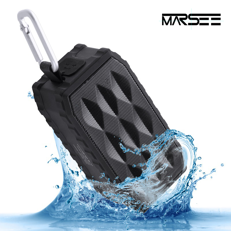 Bluetooth Speakers,MARSEE ZeroX Outdoor Portable Bluetooth Speaker Wireless Waterproof Mini Speaker Super Bass With Mic TF Card(China (Mainland))