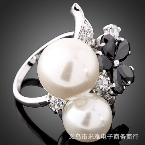 2014 Real Sale Jewelry Rings Gorgeous 18k Plated The Ring O Fashion Pearl Rings For Woman And Jewelry No Minorder Rg061(China (Mainland))