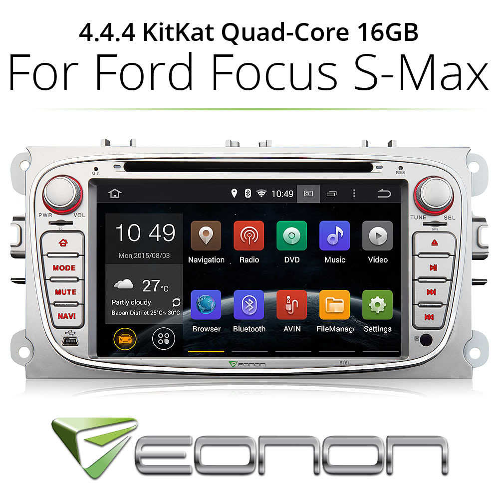 For Ford Focus Mondeo Car DVD Player GPS Head Unit Navi Stereo Radio Android 4.4.4(China (Mainland))