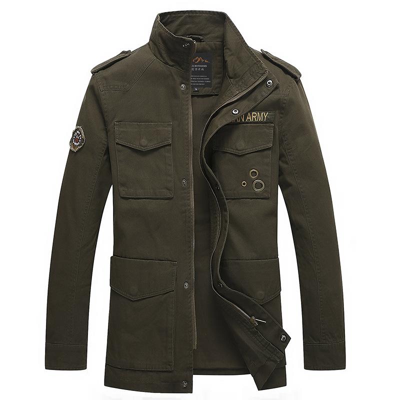 New Men's Casual Jacket Coats Fashion Hooded 100% Cotton Overall Jacket Men Designer Casual Plus Size Coat L~3XL MJ30E32