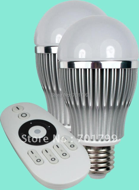 6pcs 6W led bulbs +1pcs remote controll;dimmable and color temperature adjustable bulbs