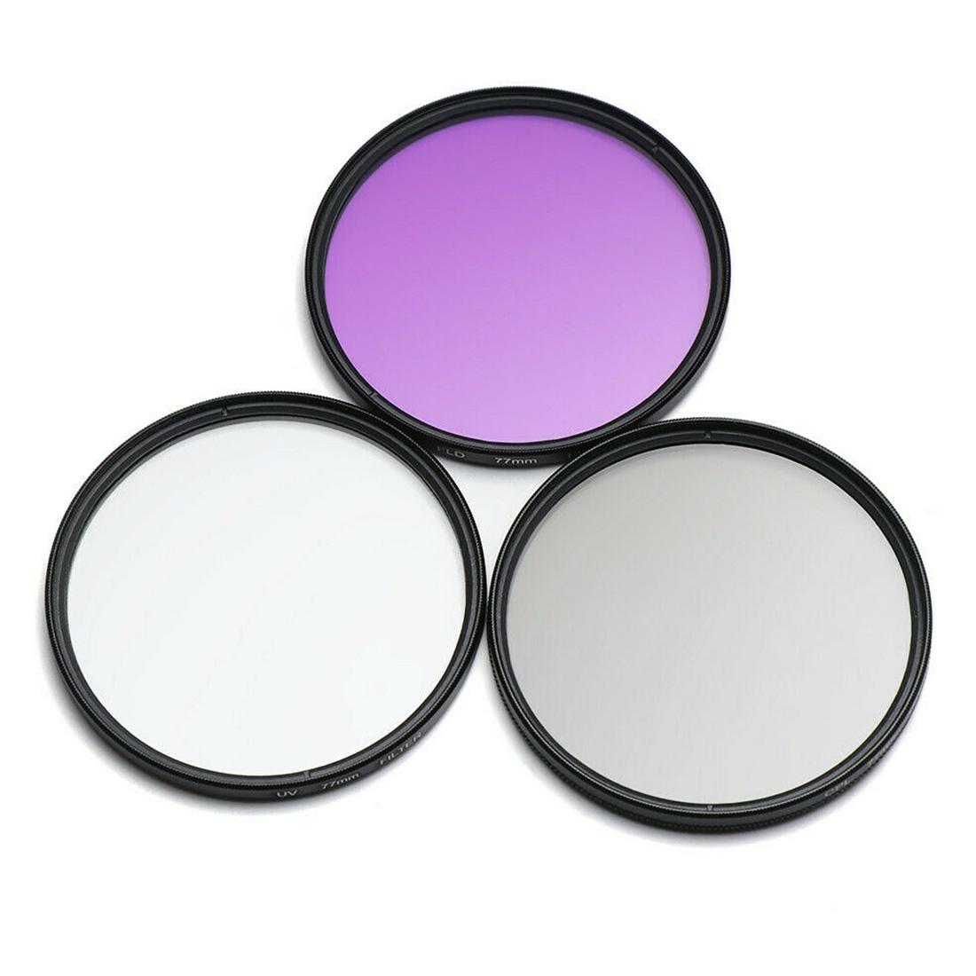 Сумка для хранения UV CPL FLD 3 в 1 объектив SLR Камера Пылезащитная Защита от царапин aeProduct.getSubject()