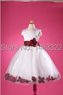 Flower Girl Dress Junior Bridesmaid Dress Girls' Dresses Children's Formal Wear FG153(China (Mainland))