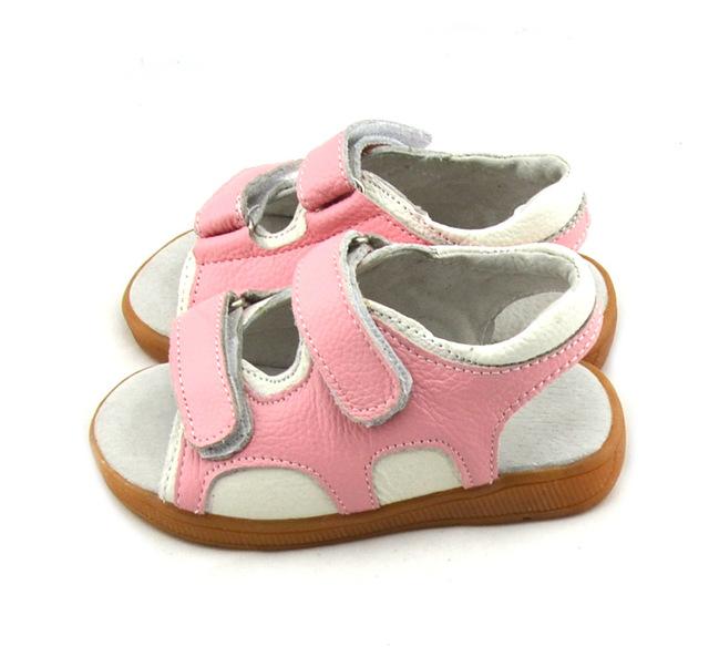 2016 летние новорожденных девочек сандалии женские дети обувь из натуральной кожи ...