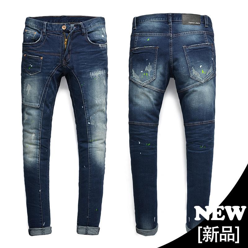 Мужская дизайнер и мужские джинсы