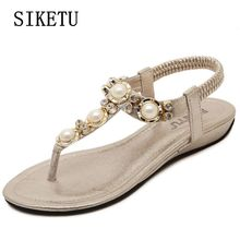 Buy Summer new women fashion sandals casual comfortable sandals women's sandals Bohemia large size flat beach sandals 34 39 40 for $17.30 in AliExpress store