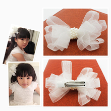 Buy White Ribbon Pearl Hair Accessories Korea Princess Hair Clips Girls Flowers Hair Bows Ornaments Hairpin Kids Gift Headwear for $1.09 in AliExpress store