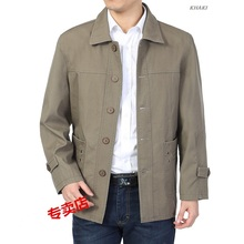 Free Shipping High Quality New 2015 Mens Outwear Business Casual Thick Warm Jacket Long Outwear Coat Men 100% Cotton Fabric(China (Mainland))