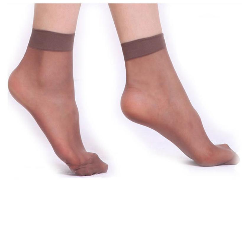 10 pairs /Lot Women Summer Ultrathin Transparent Crystal Elastic Silk Short Socks 4Colors Amazing 063020