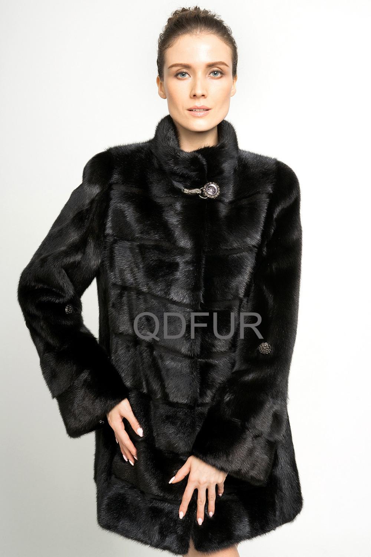 2014 Luxury Whole-Hide Mink Fur Coat Jacket Mandarin Collar  Winter Women Fur Outerwear Coats Overcoat  Clothig QD70787Одежда и ак�е��уары<br><br><br>Aliexpress