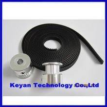 2Pcs 20-GT2-6 GT2 Pulley And 2m GT2-6mm Open GT2 Belt for 3D printer(4xM3 setscrews and 1xAllen Key)
