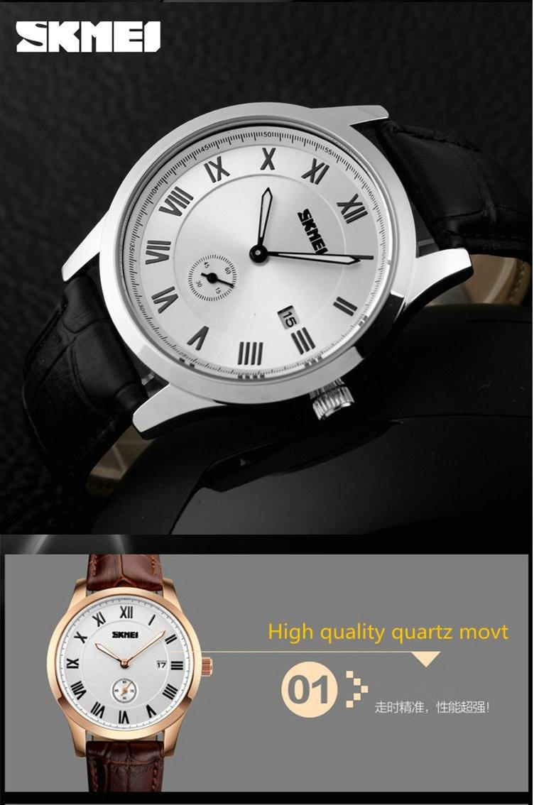 Экспортного Качества Удобный Регулируемый Браслет Кварцевые Часы Ободок Японии Movt Натуральная Кожа Классический Relojes