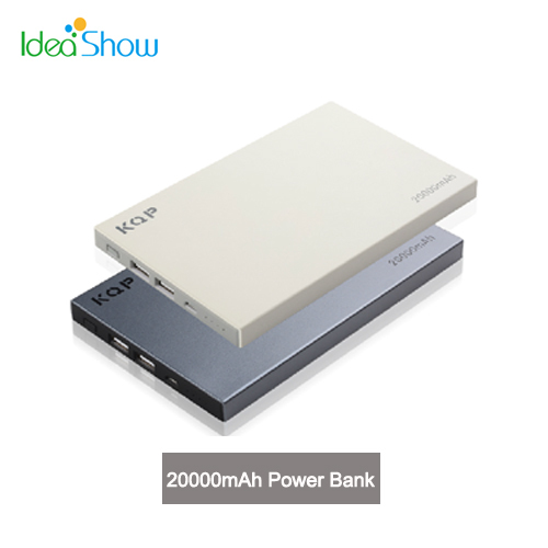 New Arrivial KQP K68 20000mAh External Backup Powers Power Bank Mobile Phone Universal Battery Pack Chargers for iPhone 6 Plus(China (Mainland))