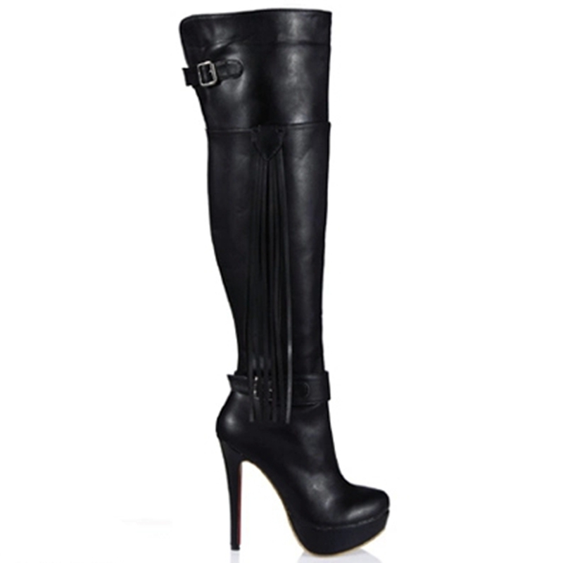 Hot Sale Women Platform Boots Good Quality Over The Knee Boots Fashion Night Party High Heel Boots Thigh High 2016 Winter TA010(China (Mainland))