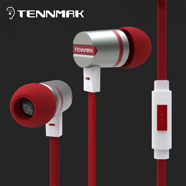 Tennmak Dulcimer Red in-ear metal earphone & earbud with MIC&remote for iPhone& &Samsung&HTC&Android& MP3*Free Shipping*New(Hong Kong)