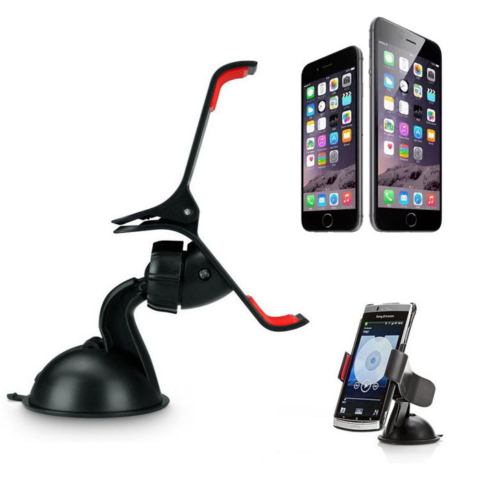 Universal Car Phone Holder For iPhone 6 6 Plus Samsung GPS 360 Degree Rotating Windshield Mount Stand Phone Holder Wholesale(China (Mainland))