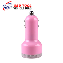 New Arrival Auto Universal Dual USB Car Charger Green For iPad IPhone 5V 2.1A Mini Adapter Car Accessories Promotion Price(China (Mainland))