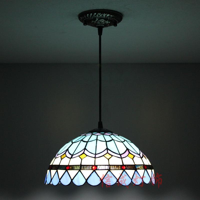 M diterran enne cr ative moderne minimaliste lustre de style tiffany bleu couleur verre lustre - Lustres pour chambre ...