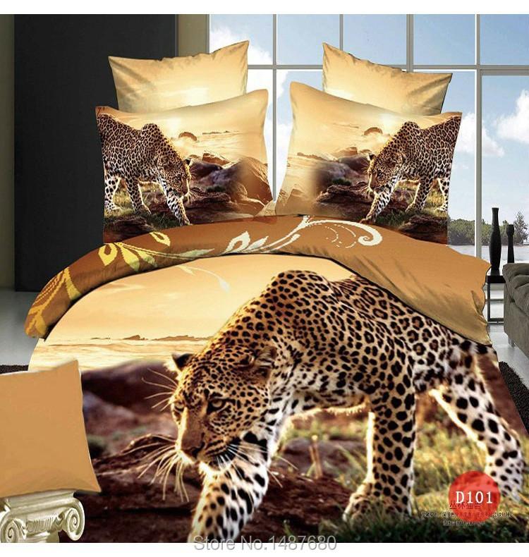 Wholesale Oil Print Leopard Animal Bedding Set 3d Men Quilt/Duvet ...