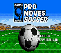 Pro moves soccer --- 16bit game cartridge for sega megadrive / genesis home game computer(China (Mainland))