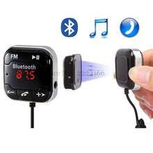 Buy Bluetooth A2DP Car FM Transmitter hands-free car MP3 music player,Dual USB Car Charger +Magnetic sticker LED Display car-styling for $12.89 in AliExpress store
