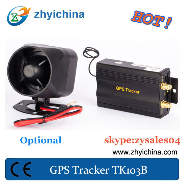 Cheapest online gps traking TK103B Remote control gps tracker car/Auto GPS Tracker + Siren+shock sensor(China (Mainland))