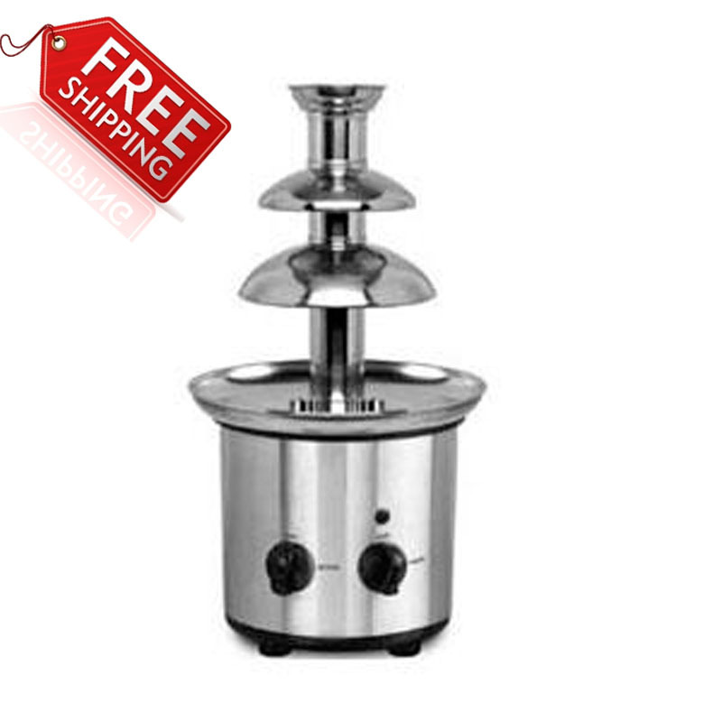 3 tiers home chocolate fountains chocolate fondue fountain with free shipping