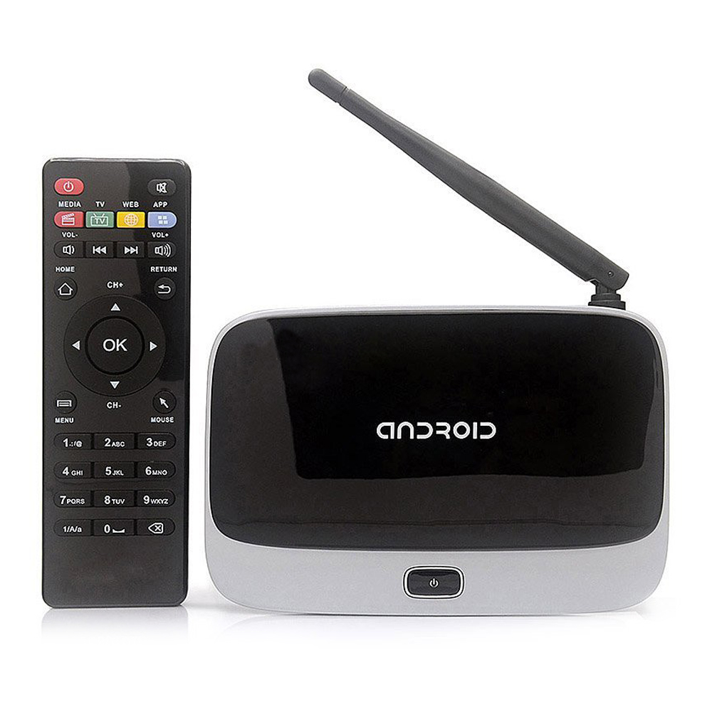 CS918 Android 4.4 TV Box Player Quad Core 2GB/16GB XBMC WiFi 1080P with Remote Control US Plug