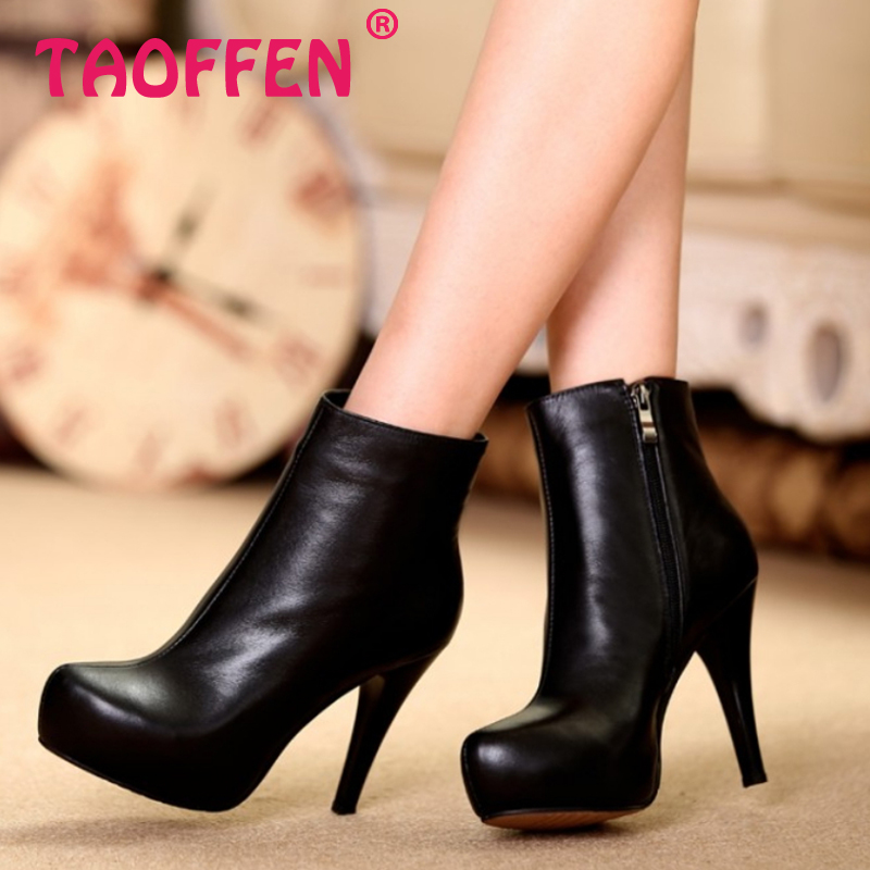 women real genuine leather stiletto platform high heel shoes brand sexy fashion pumps ladies heeled shoes size 34-39 R5969