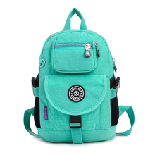2016 New Designer Fashion Japanese Korean Waterproof Nylon Middle School Girl Kids Cute Small Backpack Outdoor Women Bags(China (Mainland))
